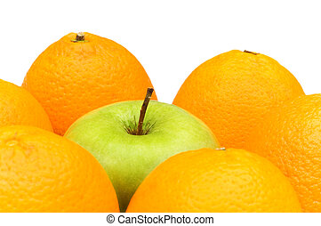Stand out from crowd with apple and oranges
