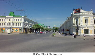 Lubinsky Avenue - the historic part of the city on Lenin Street.