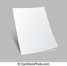 blank standing magazine cover