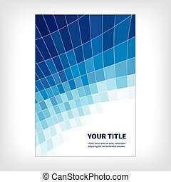 dynamics abstract brochure background - Blue abstract...