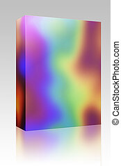 Rainbow colors box package - Software package box Abstract...