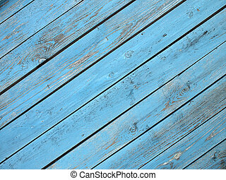 Old wooden boards located on a diagonal closeup - Old wooden...