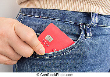 credit card in my pocket
