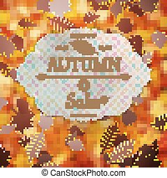 Autumn Sale template. EPS 10
