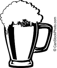 beer mug isolated on a white background vector eps 10