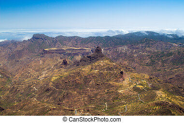 Inland Gran Canaria - from the shadow of Roque Nublo - view...