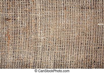 Old burlap fabric texture