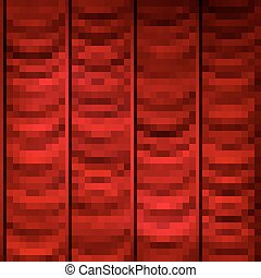 Red curtain background template. EPS 10
