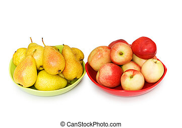 Various frutis isolated on the white background