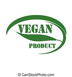 Vegan - Green stamp with text Vegan-Product,vector...