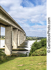Orwell Bridge in Suffolk England spanning the River Orwell