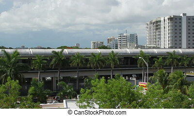 Miami Transit Time Lapse - Miami Florida City Scape Transit...