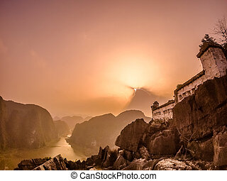 Ninh Binh, Vietnam - Astonishing view on the river in Tam...