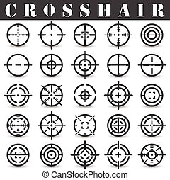 Crosshair Icons set in vector on a white background with a...