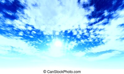 Fine weather cloudscape on blue sky