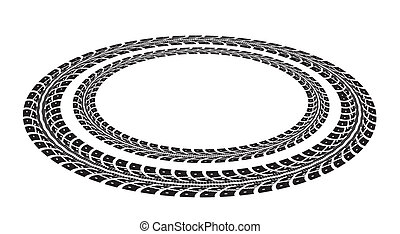 Tire tracks. Illustration on white background