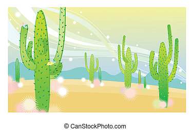 cacti - a background of catic
