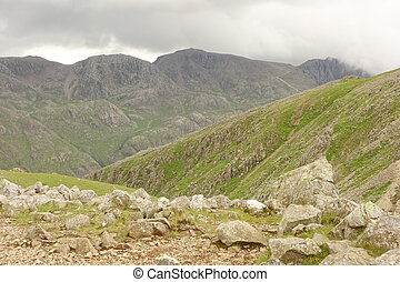 Scafell Pike from Green Gable - View of Scafell Pike (in...