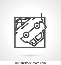 Abstract vector icon for car evacuation - Abstract black...
