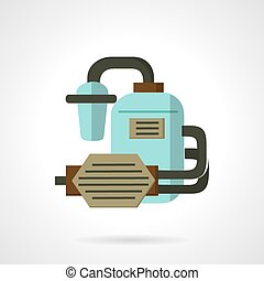 Flat vector icon for water supply - Flat color design vector...