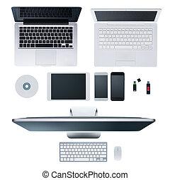 Hi-tech desktop - Laptops, desktop computer, smartphones,...