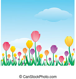 tulip pattern - the tulip pattern background