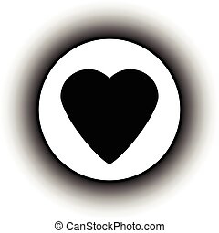 Love sign button. - Love sign button isolated on white...