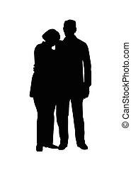 elderly couple standing vector