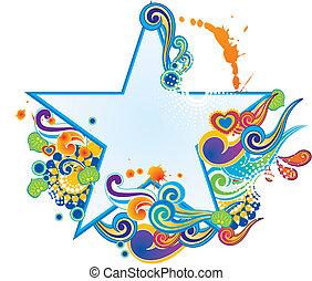 floral star pattern design.