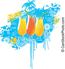 colorful drinks background