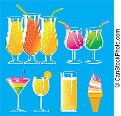 colorful juice pattern design