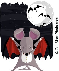 The Vampire Mouse - Vector eps file of a vector cartoon...
