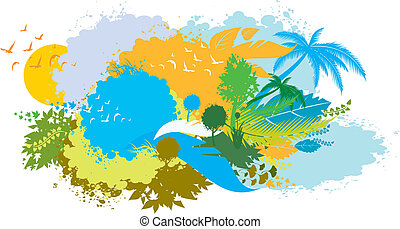 funky nature background