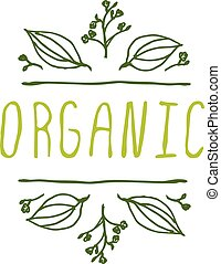 Organic - product label on white background.