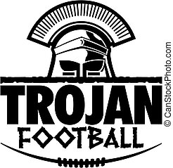 trojan football - graphic trojan football design with helmet...