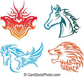 animals pattern - four animals pattern design.