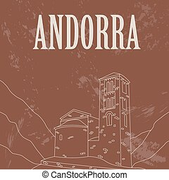 Andorra infographics, statistical data, sights Vector...