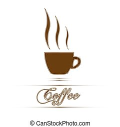 Coffee cup  sign in white background