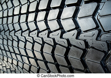 Textured tire tread - Photo coarse textured black tire tread...