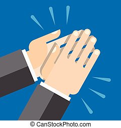 hands clapping, applause - Hands clapping symbol Vector for...