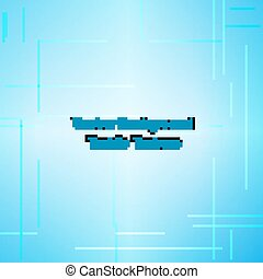 Textile texture blue. Vector