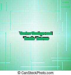 Textile texture green. Vector