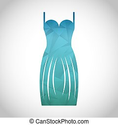 woman dress design, vector illustration eps10 graphic