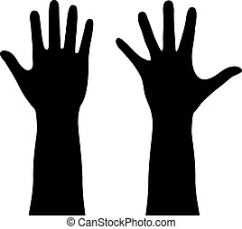 Human hands outline