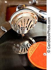 Old gramophone - Old vintage gramophone