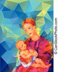 Madonna and Child in a triangular style