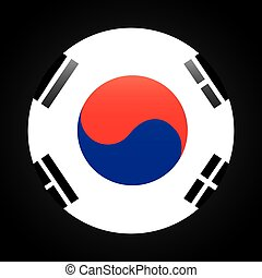 korean emblem design, vector illustration eps10 graphic