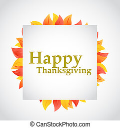 happy thanksgiving autumn leaves sign illustration design...