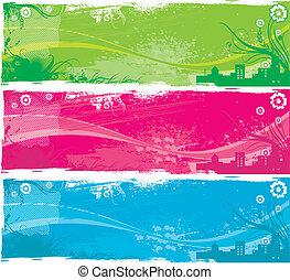 banner background - three banner background