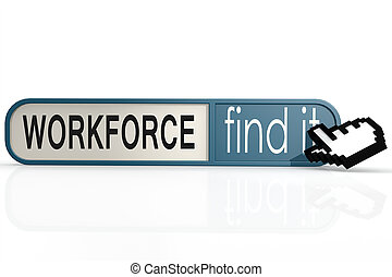 Workforce word on the blue find it banner image with hi-res...